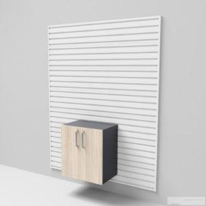Nástěnná podlahová skříňka – dvířka 66 × 60 × 40 cm