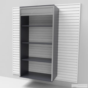 Vysoká široká skříň – roleta 183 × 91 × 50 cm