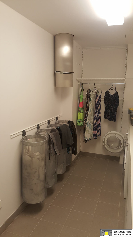 Realizace prádelny – systém Elfa