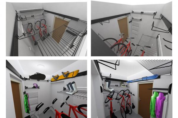 Sportovní místnost – řešení systémem Gladiator® a Garage Pro